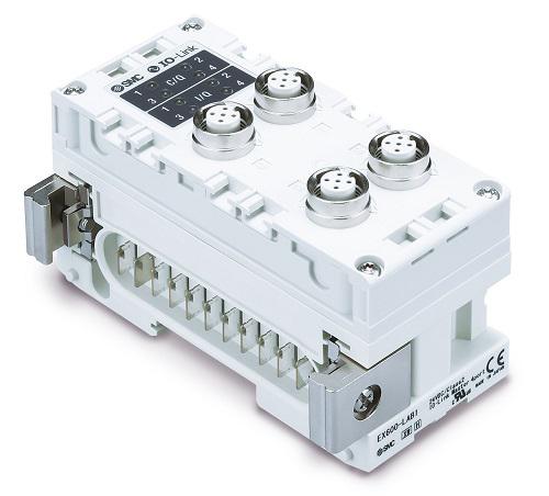 IO-Link-Master-Modul für das EX600-Feldbussystem