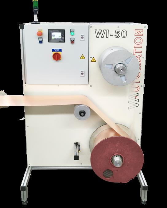 Auf- und Abwickler mit Magnetpulverbremse und Kupplung